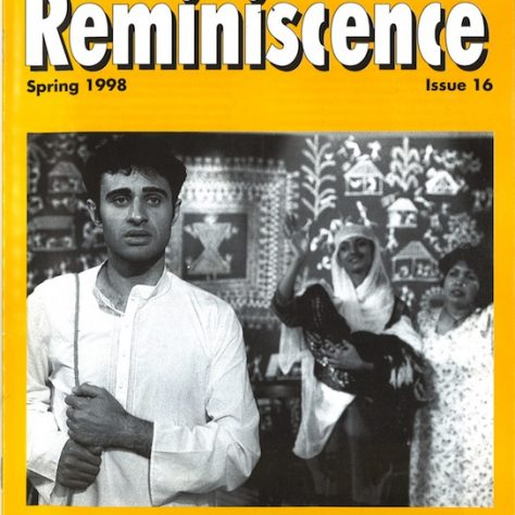 Cover Reminiscence Magazine, Spring 1997.