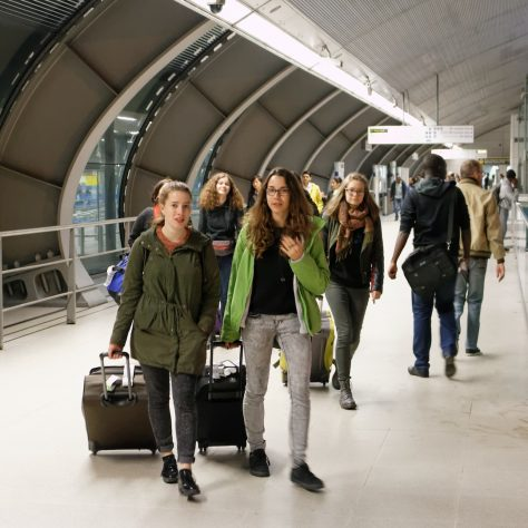 The German young people from Dresden arrive in London   Matthias Neutzer