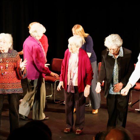 Members of Greenwich Pensioners Forum perform their own memories of the war years   Matthias Neutner