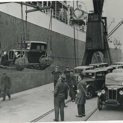 Cars for export 1930s | Museum in Docklands project