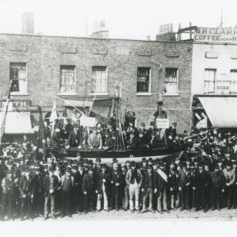 Dock Strike 1889 - scene in the East India Dock Road