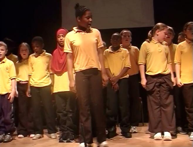 AJODA PEFORMS WITH PRIMARY SCHOOL CHILDREN