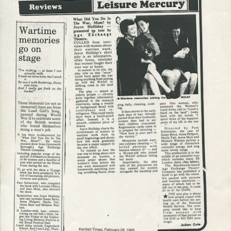 Kentish Times and The Mercury, February - March 1985