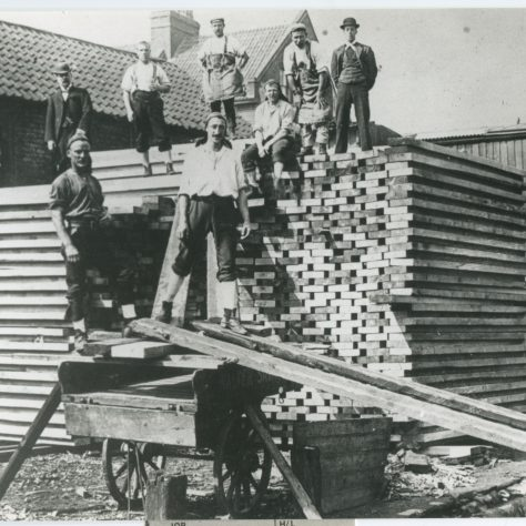 Stack of timber, Surrey Commercial Docks 1930s | Southwark Local History Collection