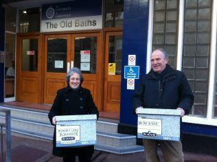 Pam and Alex Schweitzer deliver the first archive boxes to the University of Greenwich